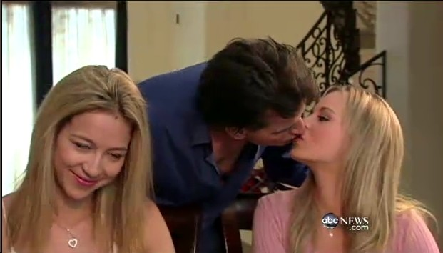 Charlie Sheen Goddesses Rachel Oberlin (Bree Olson) and Natalie Kenley