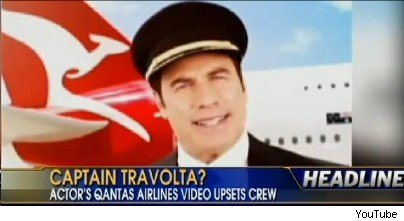 John Travolta Angers Qantas Employees With In-Flight Video Appearance