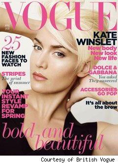 Kate Winslet on the cover of British Vogue