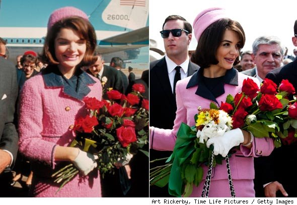 Jackie Kennedy and Katie Holmes