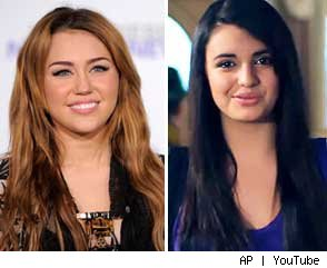 Miley Cyrus and Rebecca Black