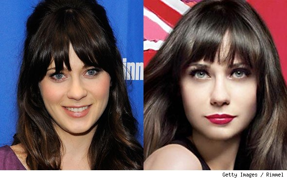 Photo: Rimmel Edits the Face Off Zooey Deschanel