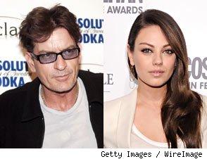 Charlie Sheen Wants to Make Mila Kunis Goddess No. 3