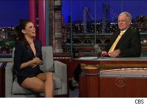 Eva Longoria and David Letterman