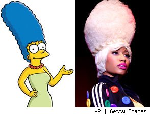 Marge Simpson and Nicki Minaj