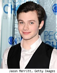 on live with regis and kelly chris colfer of glee downplayed being