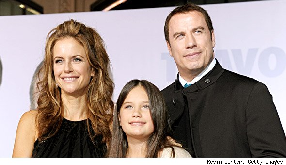 John Travolta, Kelly Preston and daughter