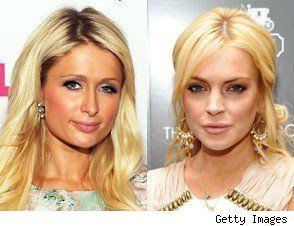 Paris Hilton and Lindsay Lohan
