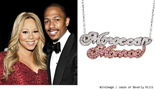 Mariah Carey Nick Cannon necklace