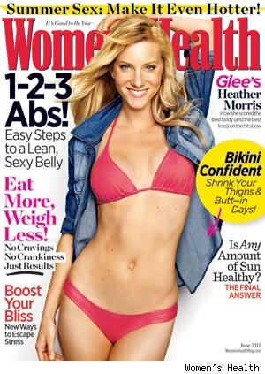 'Glee' girl Heather Morris is showing off her toned bikini bod on the cover ...