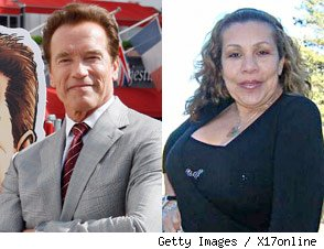 Arnold Schwarzenegger and Mildred 'Patty' Baena