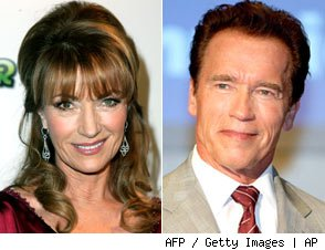 Jane Seymour and Arnold Schwarzenegger