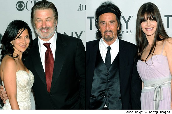 Alec Baldwin and Hilaria Thomas and Al Pacino and Lucila Sola