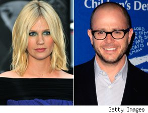 January Jones and Damon Lindelof