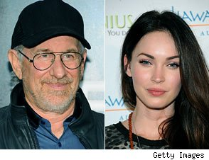 Steven Spielberg and Megan Fox