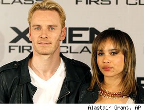 Michael Fassbender and Zoe Kravitz