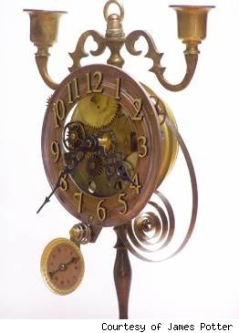 James Potter, steampunk clock, baron clock