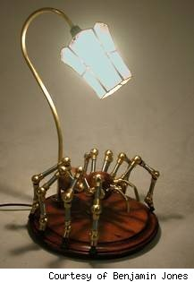 benjamin jones, steampunk lamp, steampunk