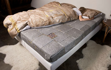 Hot or Not Hot? Bedding inspired by the homeless