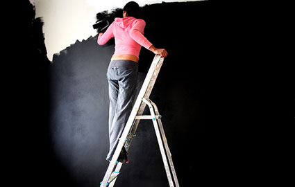 Black Wall Paint paint | lonely wife project