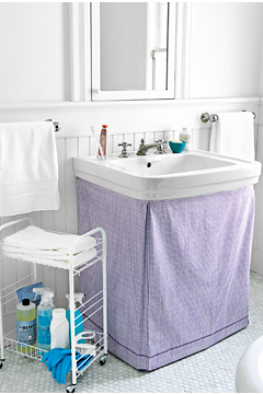 Take Cover   The Ultimate Bathroom Organizer   Real Simple