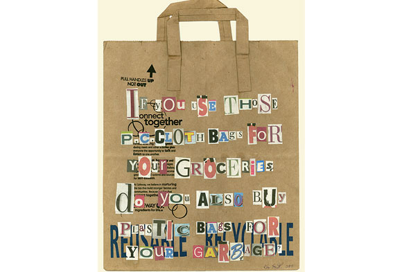 A grocery bag letter to Dwell magazine.