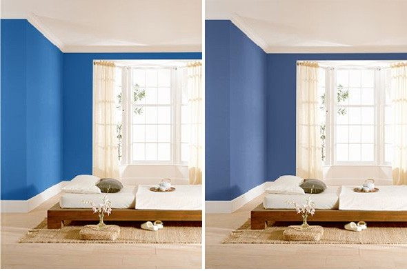 Blue UL240 21  right  warms a bedroom  Both paints from Behr Paints. Similiar Behr Blue Paint Colors For Bedrooms Keywords