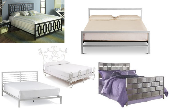 metal iron and brass beds