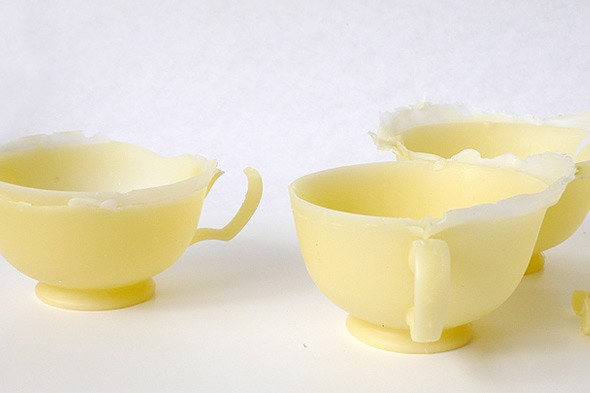 tea design Beescup by Mariana Torconal made from beeswax.