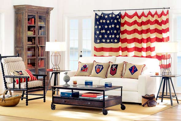 american flag decorating