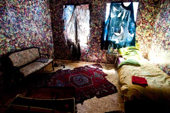 Garbage hotel room