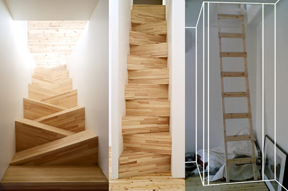 steep staircase