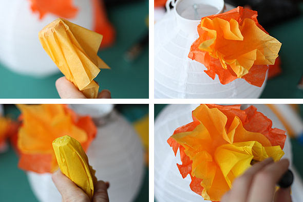 diy summer paper lanterns