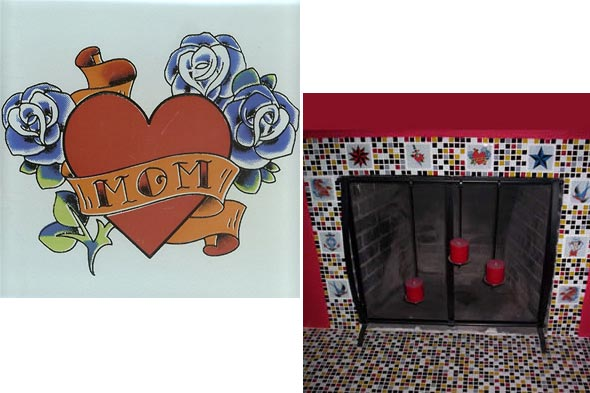 Spice up your outdated walls with tile tattoos
