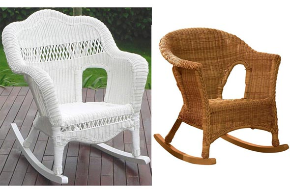 indoor wicker wicker rockers