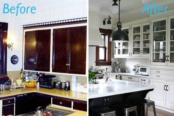 Common sense by adriana paine for Before after kitchen makeovers