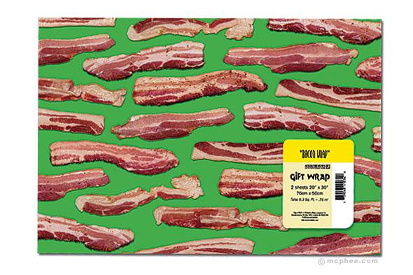 bacon wrapping paper Description everything is better when it's wrapped in bacon two 20-inches x 30-inches sheets of quality wrapping paper decorated with mouth watering strips of bacon.