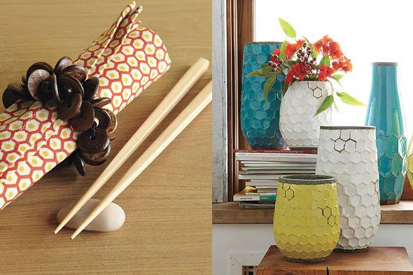 honeycomb-pattern home trends 2011 West Elm