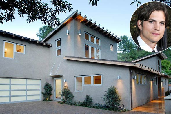 Ashton Kutcher home, bachelor pad, house, celebrity home, sale