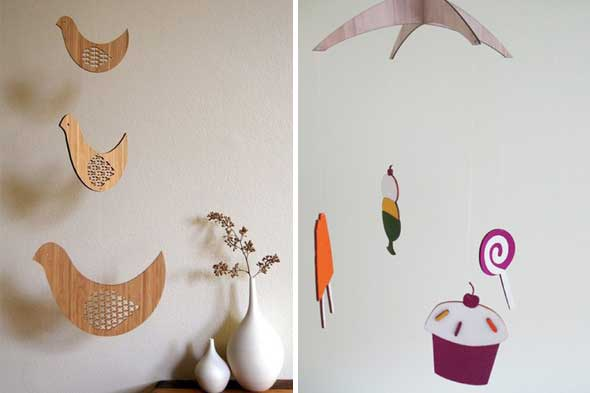 nursery ideas, handmade mobile