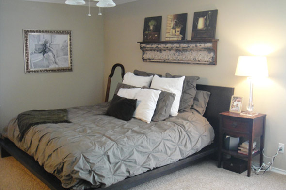 Thereu0027s Nothing Wrong With This Master Bedroom. Sweet, Pin Tucked Bedding,  Basic Furniture And A Hint Of The Vintage Look That The Homeowner, ...