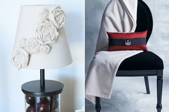Brooch Lamp and Pillow