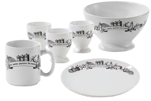 french plates cups