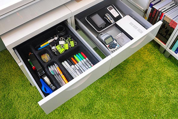 easy home office organizing