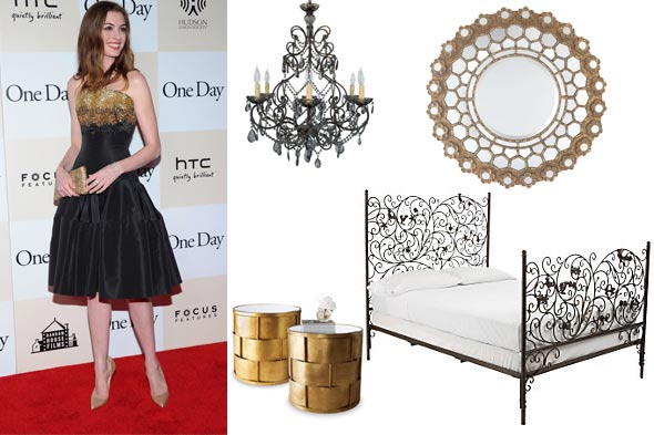 Anne Hathaway One Day actress room