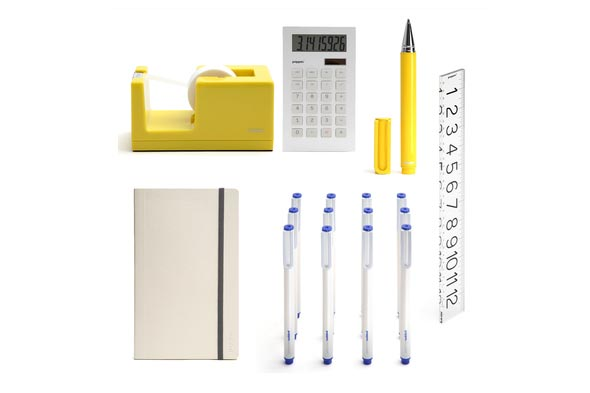 Poppin yellow pages desk stationery