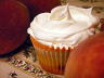 Food Porn: Peach Cupcake with Mascarpone Cream Frosting