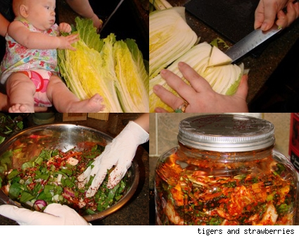 making kimchee