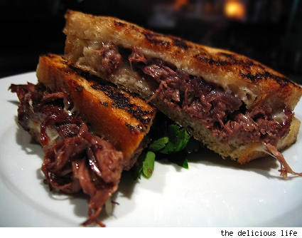 short rib grilled cheese sandwich at table 8, los angeles