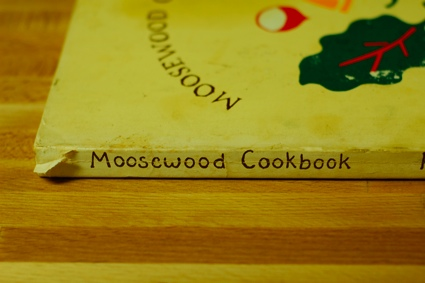 the spine of the original Moosewood Cookbook